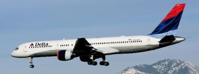 Delta Airlines im Anflug auf Salt Lake City.